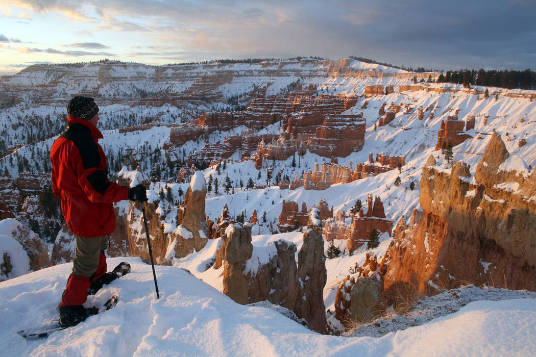 (Deborah Wall) With plenty of snow, Bryce Canyon National Park in Utah is a great place for cro ...