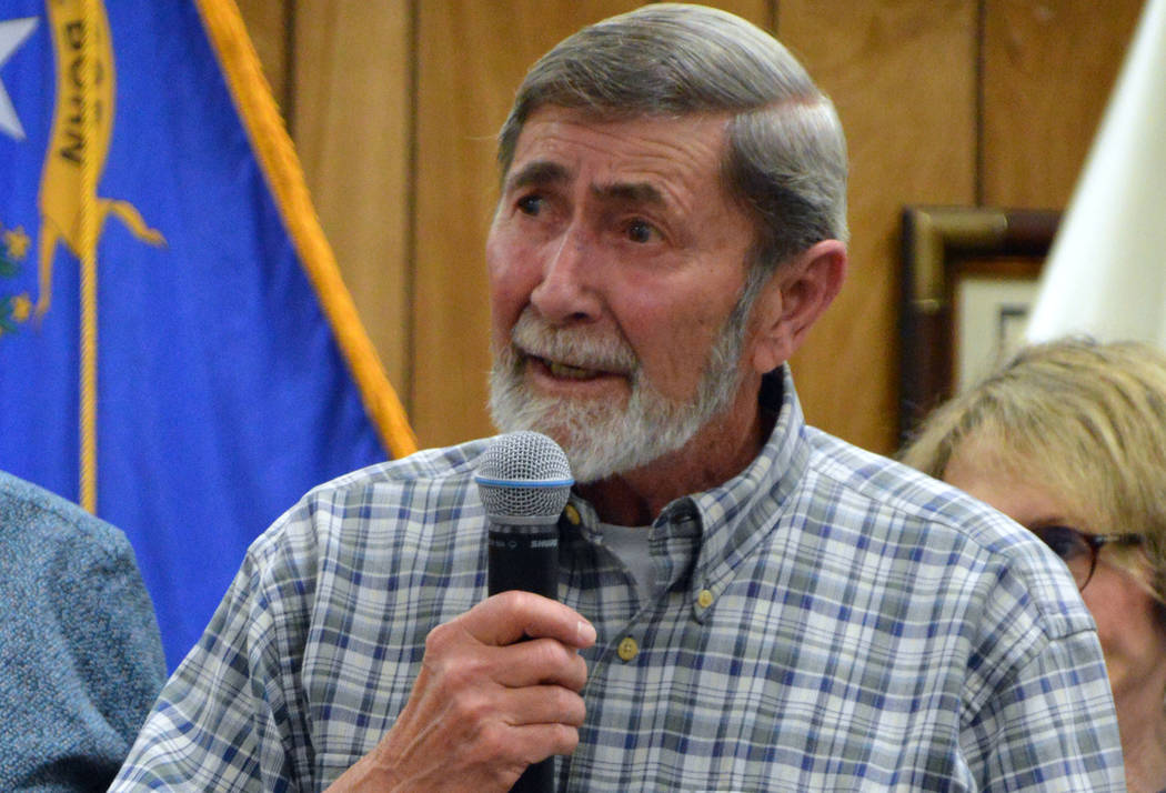 Celia Shortt Goodyear/Boulder City Review Fred Bachhuber encourages people to volunteer in the ...