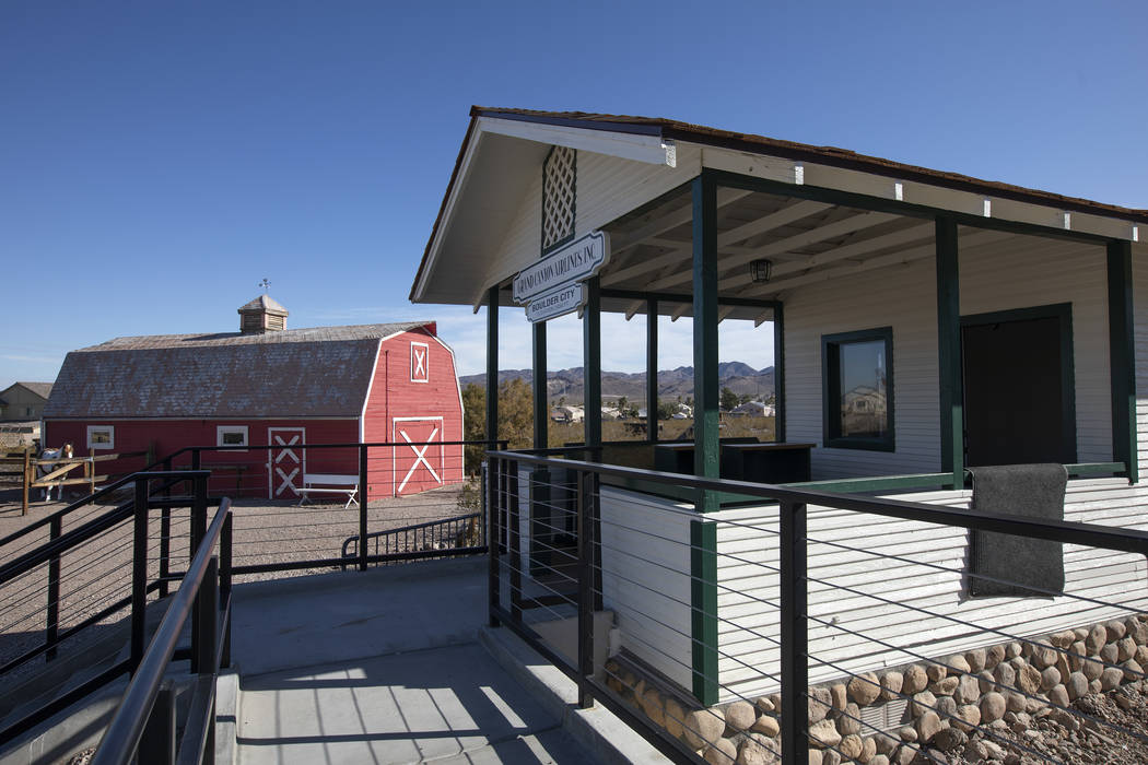 (Ellen Schmidt/Las Vegas Review-Journal) The Grand Canyon Airlines ticket office, which was mov ...