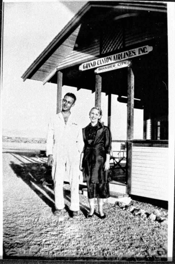(Courtesy of Clark County Museum) Grand Canyon Airlines' ticket building is pictured in the 1930s.
