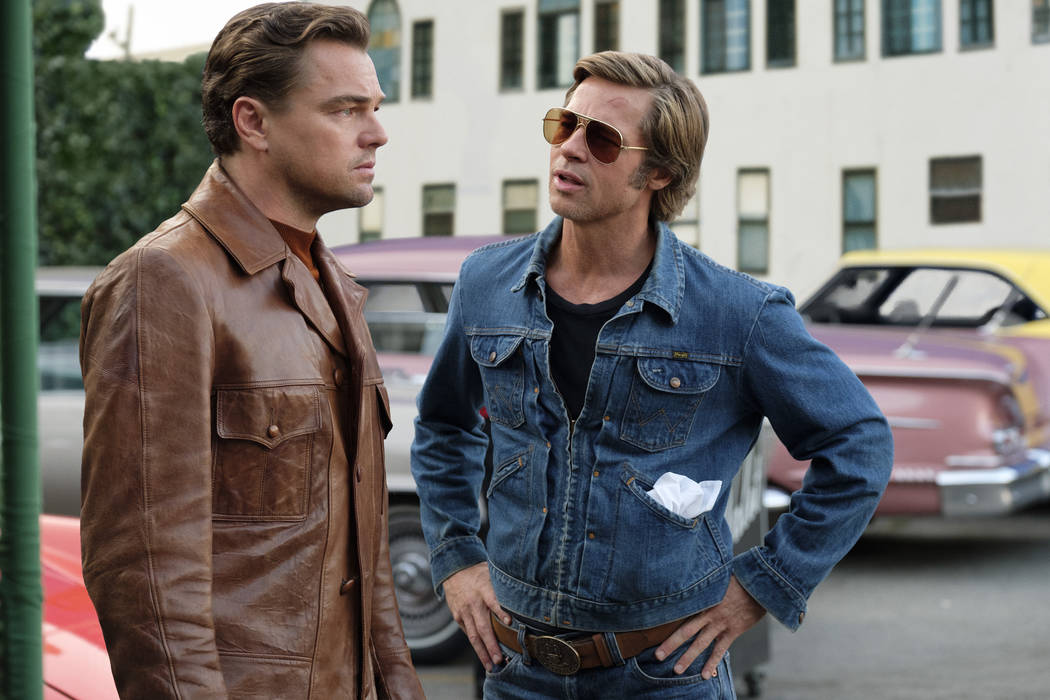 "Leonardo DiCaprio, left, and Brad Pitt star in ""Once Upon a Time in Hollywood,"" which will be s ..."