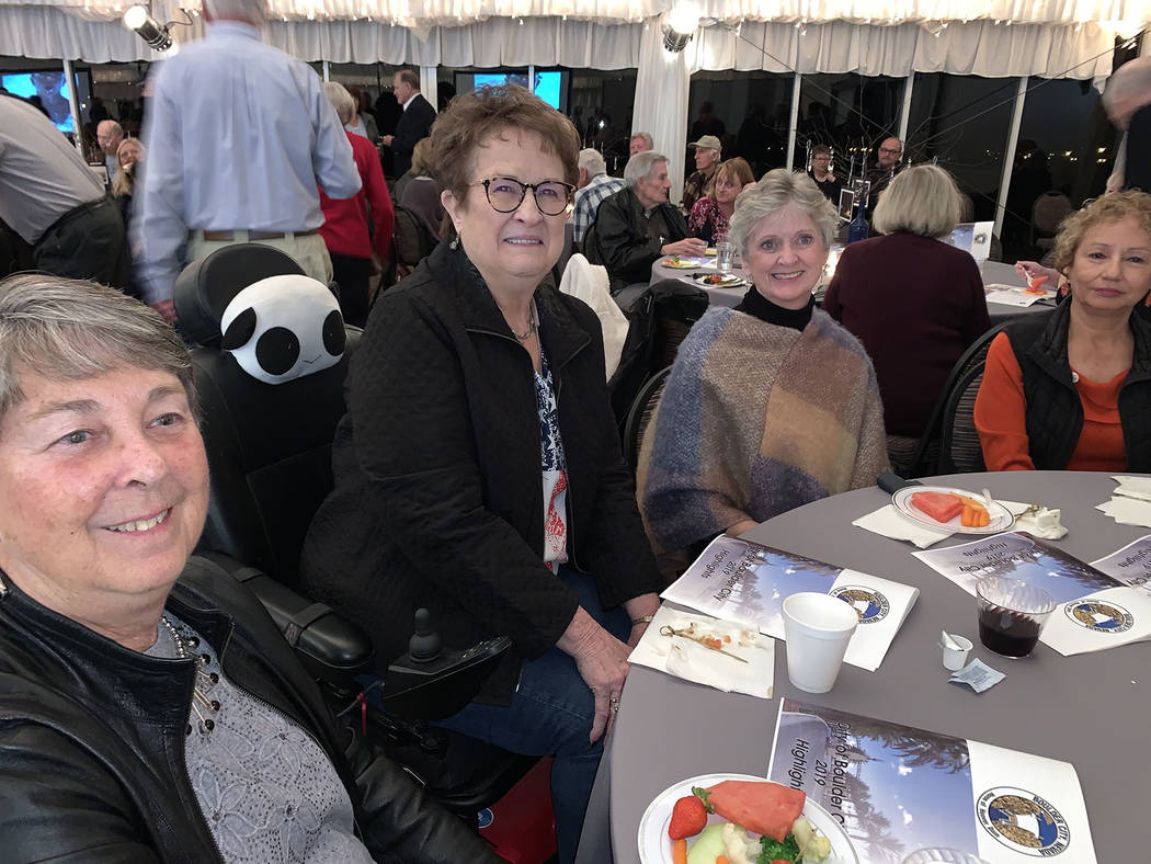 (Hali Bernstein Saylor/Boulder City Review) Among those attending the State of the City address ...