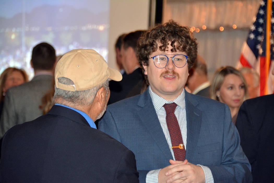 Celia Shortt Goodyear/Boulder City Review City Councilman James Howard Adams speaks to Historic ...