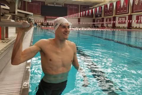 Zane Grothe, a 2010 graduate of Boulder City High School, seen in June 2019, won a pair of race ...