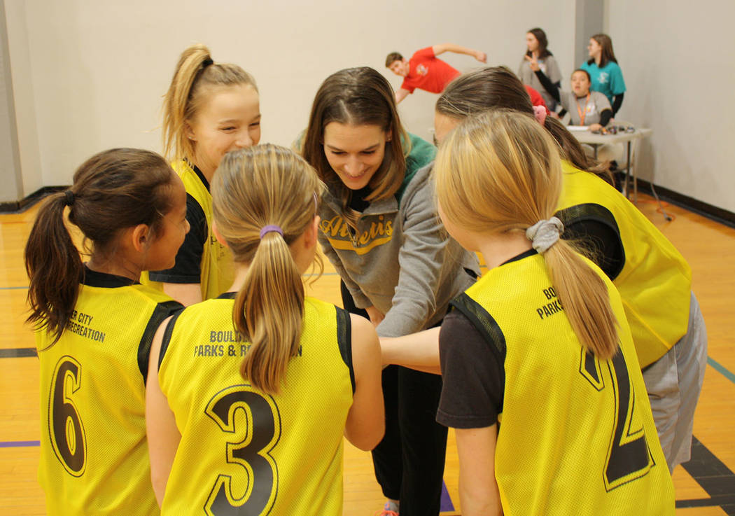 (Kelly Lehr) The B.C. Warriors, coached by Rose Hess, prepare for their first game in Boulder C ...