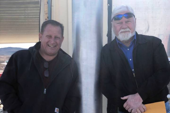 (Yolanda Helfrich) A 70-foot flagpole at the Boulder Rife and Pistol Club was recently dedicate ...