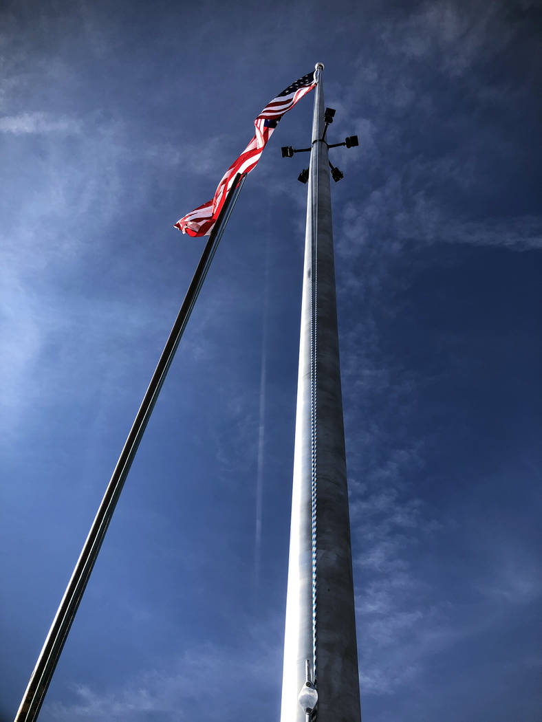 (Yolanda Helfrich) A new 70-foot flagpole at Boulder Rifle and Pistol Club was placed in honor ...
