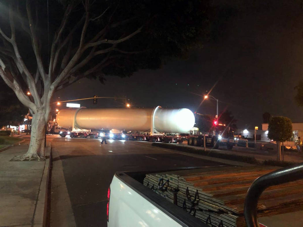 (Boulder City) A larger pressure valve will be transported through Boulder City Thursday, Feb. ...