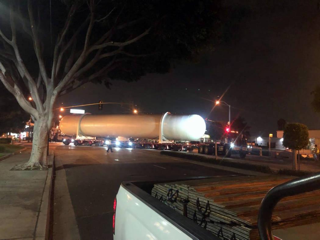 (Boulder City) A larger pressure valve will be transported through Boulder City Thursday, Feb. ...