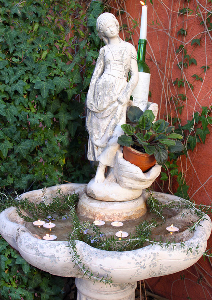 (Norma Vally) Add some romance to your garden by turning a broken fountain into a planter. Fill ...