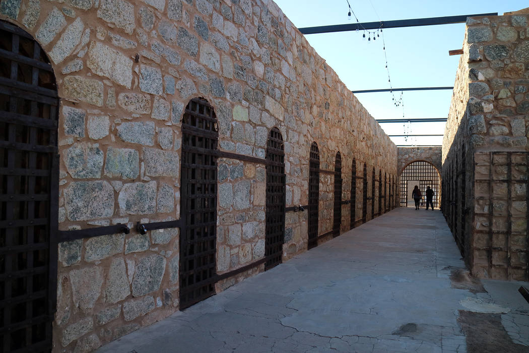 (Deborah Wall) A cell block at the Yuma Territorial Prison State Historic Park is dreary and pr ...