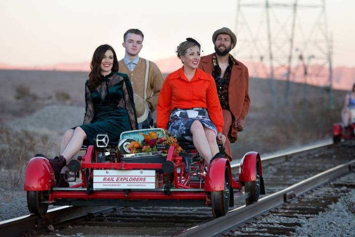 The Vox Agency Rail Explorers Las Vegas, the outdoor attraction featuring pedal-powered rail bi ...