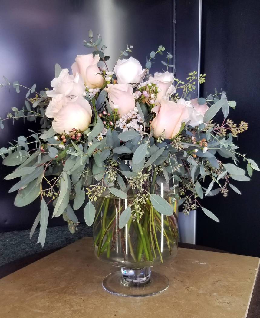 (Celia Shortt Goodyear/Boulder City Review) Floral arrangements to fit all budgets are availabl ...