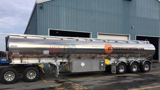 Robert Fahnestock This 10,000-gallon mobile tanker trailer is one of two owned by Robert Fahnes ...