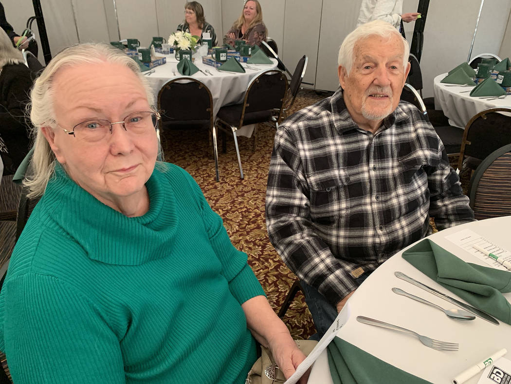 (Hali Bernstein Saylor/Boulder City Review) Ava Cramer and Louis Battaglia were among the nearl ...