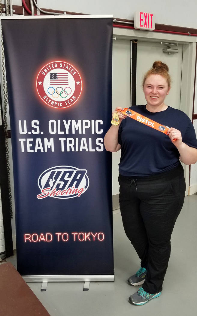 """Alexis """"Lexi"""" Lagan, seen after placing first in women's sport pistol at USA Shooting's phase o ..."""