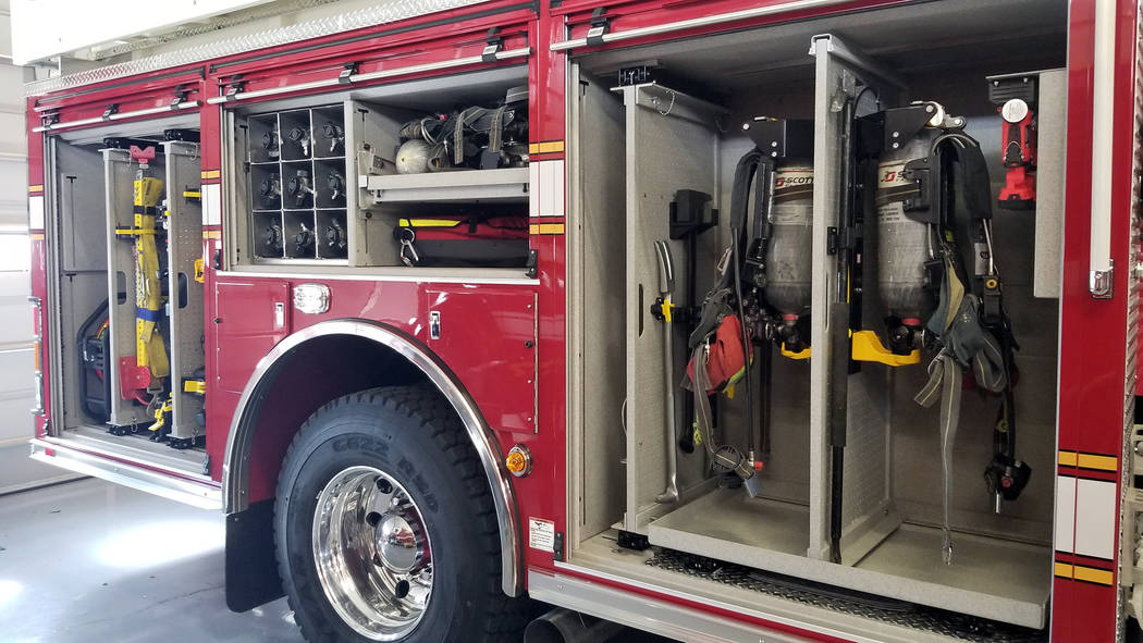 Celia Shortt Goodyear/Boulder City Review The Boulder City Fire Department's new fire engine in ...
