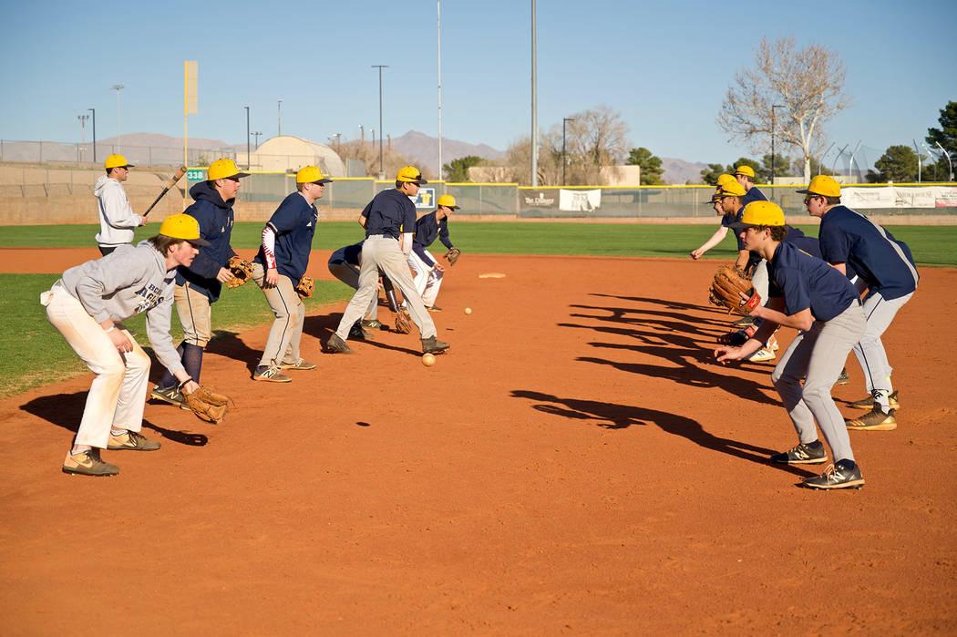 (Jamie Jane/Boulder City Review) Members of Boulder City High School's varsity baseball team ...