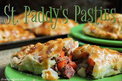 (Patti Diamond) Leftover corned beef and cabbage find new life as the filling for pasties.