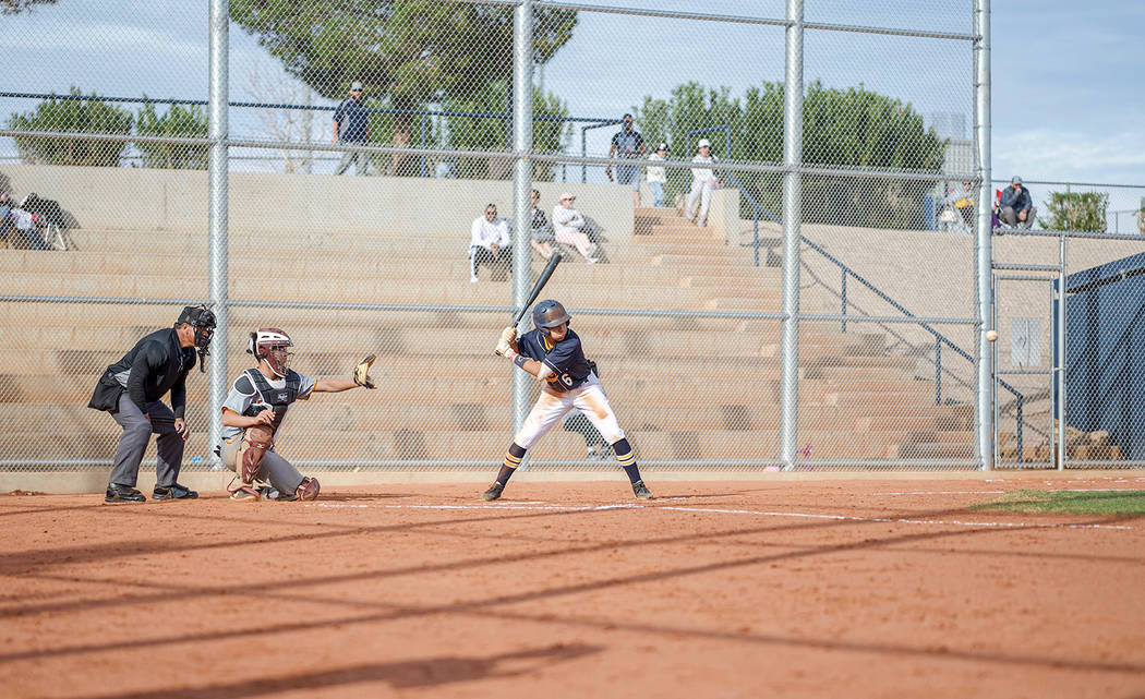 (Jamie Jane/Boulder City Review) Boulder City HIgh School freshman Jett Gilliam, seen at Monday ...