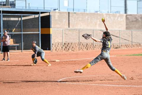 (Jamie Jane/Boulder City Review) Alyssa Bryant, a sophomore at Boulder City High School, picked ...