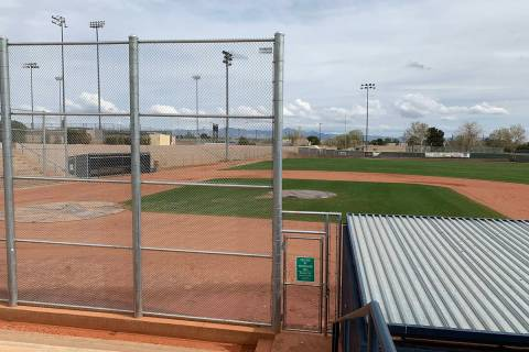 (Hali Bernstein Saylor/Boulder City Review) Whalen Field, as seen on Monday, March 16, where Bo ...