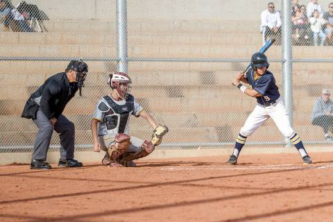 (Jamie Jane/Boulder City Review) Boulder City High School junior Randy Miller, seen batting Mar ...