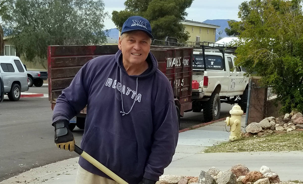 (Celia Shortt Goodyear/Boulder City Review) Glenn Frank is one Boulder City resident who is foc ...