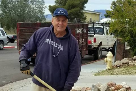 (Celia Shortt Goodyear/Boulder City Review) Glenn Frank is one Boulder City resident who is foc ...