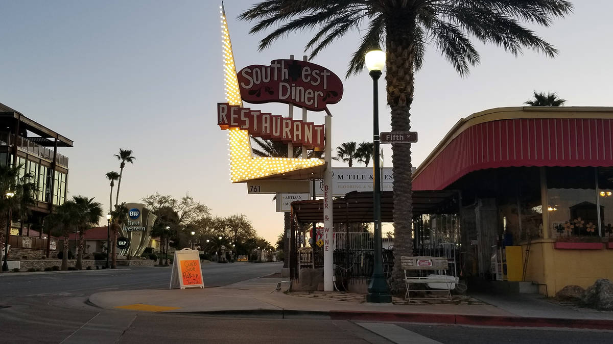 Celia Shortt Goodyear/Boulder City Review Southwest Diner, 761 Nevada Way, is offering curbside ...