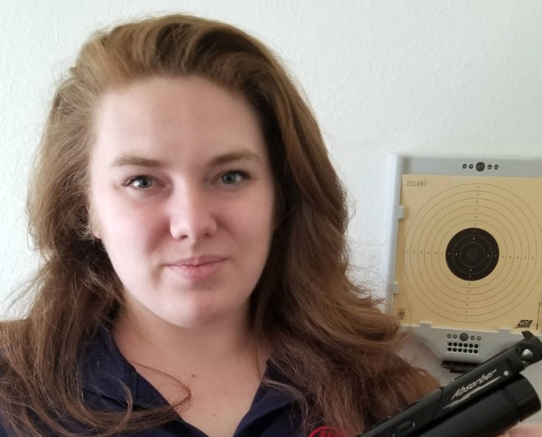 """Lexi Lagan Alexis """"Lexi Lagan"""" is utilizing a laser set up for her air pistol so ..."""