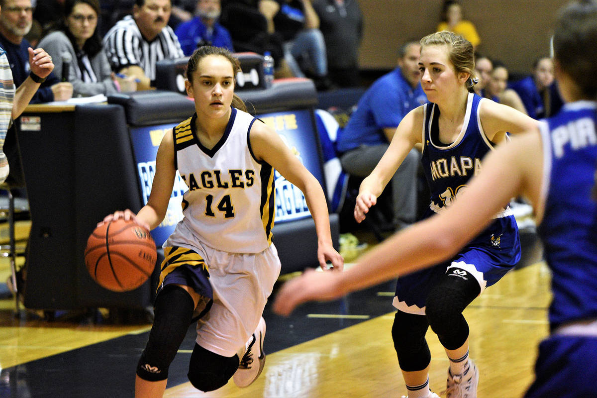 Boulder City High School senior guard Keely Alexander, seen in action Jan. 14, was named to the ...