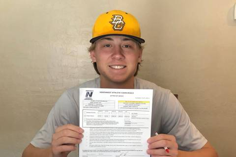 (Jonathan Neal) Jonathan Neal, a senior at Boulder City High School, recently signed a letter o ...