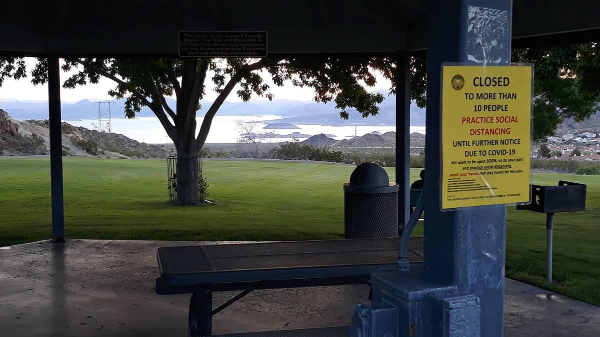(Jim Sheldon) Hemenway Valley Park was virtually empty early Sunday morning, April 12, 2020. Tr ...