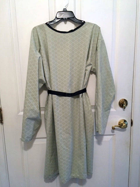 (Judy Hoskins) Councilwoman Judy Hoskins is making washable gowns from bed sheets for medical p ...