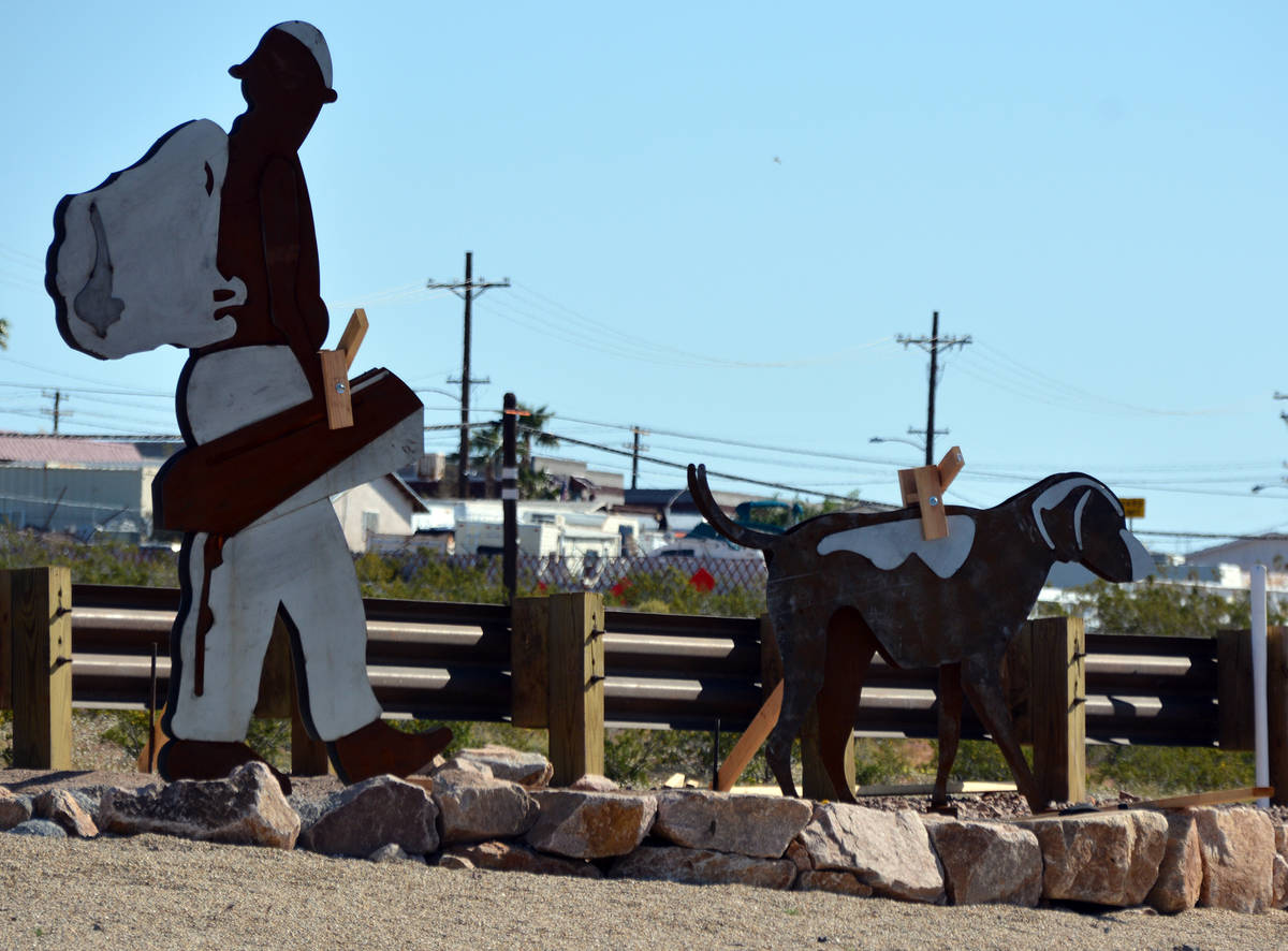 Celia Shortt Goodyear/Boulder City Review Metal sculptures installed as part of the complete st ...