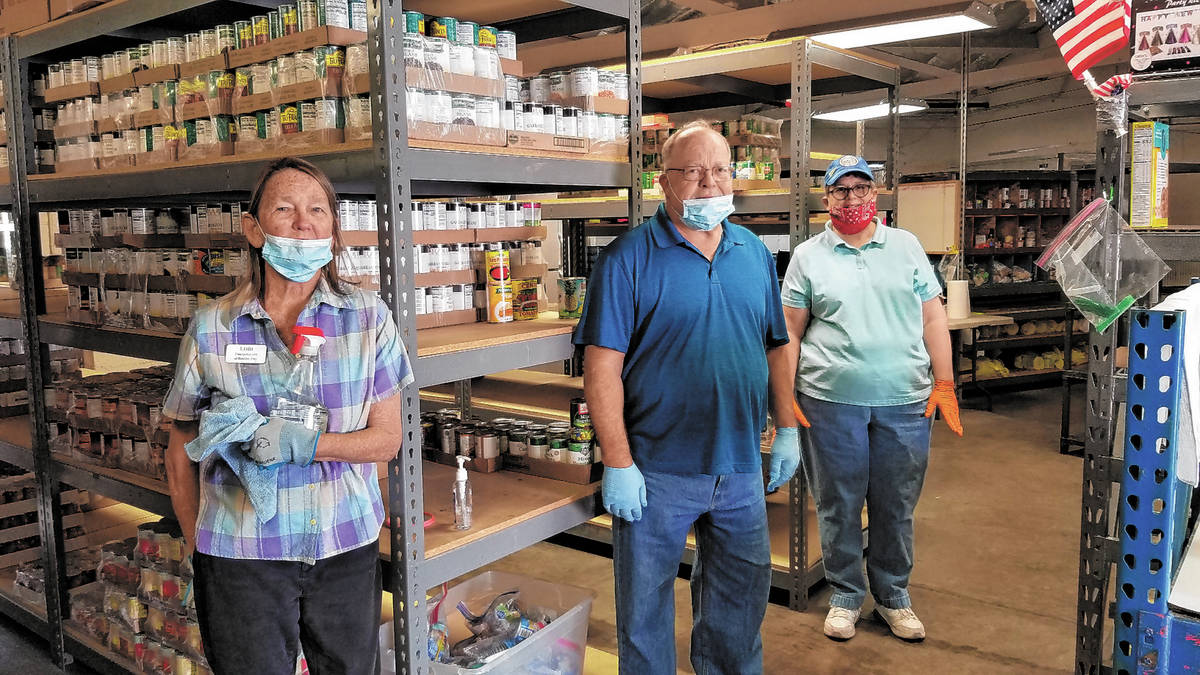 Celia Shortt Goodyear/Boulder City Review Emergency Aid of Boulder City volunteers, from left, ...