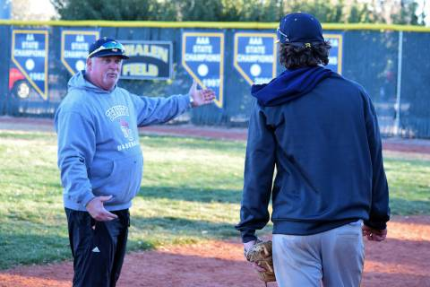 Boulder City High School's head varsity baseball coach Ed McCann, seen shortly after he was hir ...