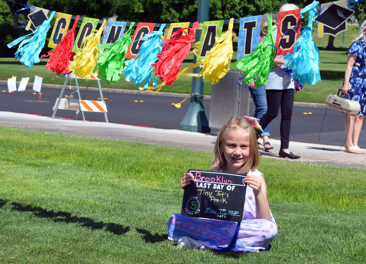 Celia Shortt Goodyear/Boulder City Review Brooklyn Henderson stops for a picture after the Tiny ...