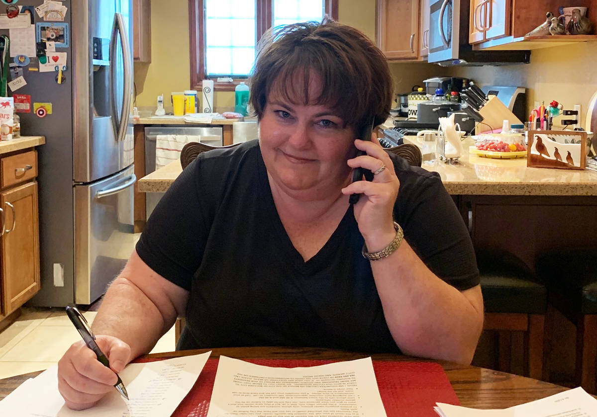 (Kelley Gray) Boulder City resident Kelley Gray, a nurse at outpatient surgery centers, called ...