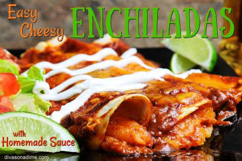 (Patti Diamond) Cheese enchiladas are easy to prepare and make an ideal meatless alternative fo ...