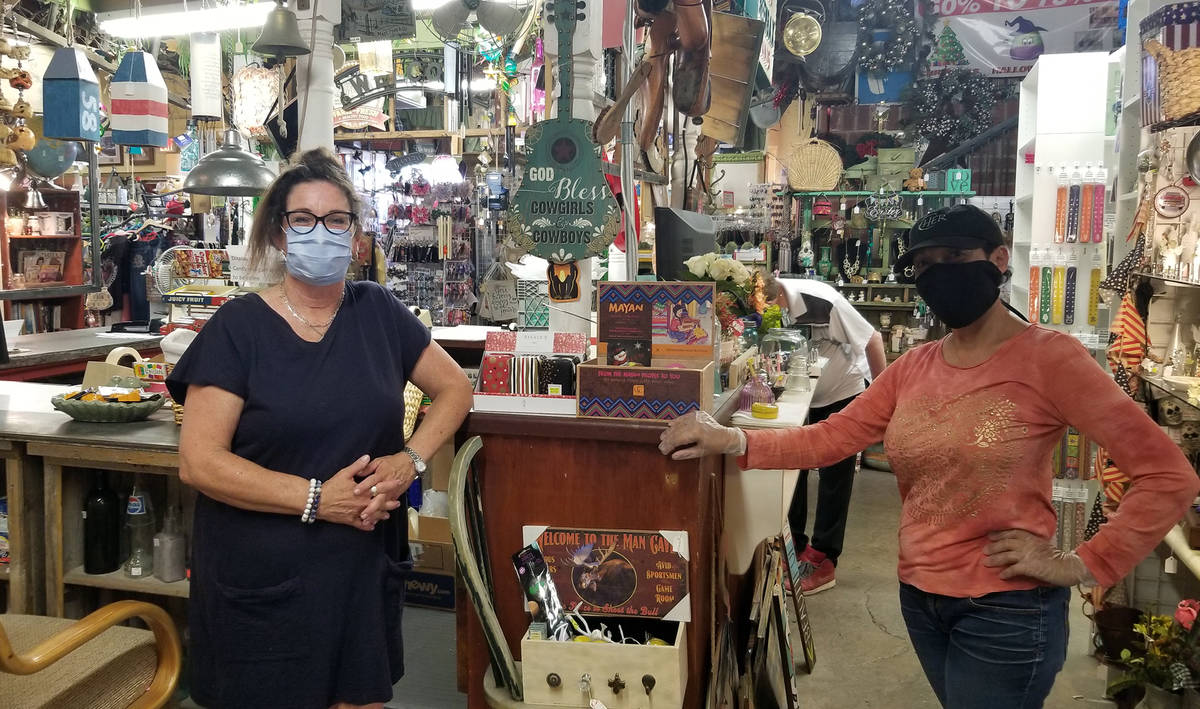 Celia Shortt Goodyear/Boulder City Review Pam Tope, left, and Diana Tennyson both said they wer ...