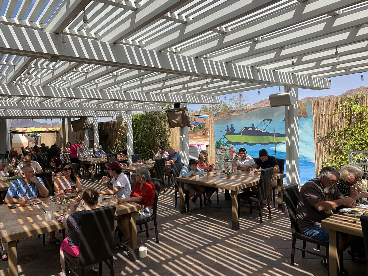 (Hali Bernstein Saylor/Boulder City Review) The Patio at Chilly Jilly'z, 1680 Boulder City Pa ...