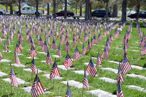 Flags will not be placed on the graves at Southern Nevada Veterans Memorial Cemetery in Boulder ...