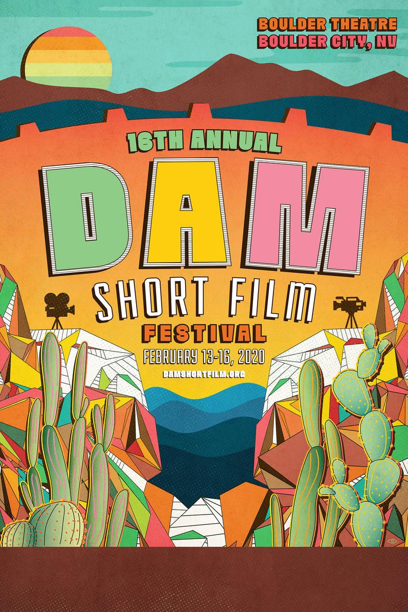 Eric Vozzola of Las Vegas created the winning poster for the 2020 Dam Short Film Festival. Entr ...