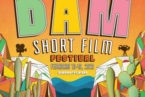 Eric Vozzola of Las Vegas created the winning poster for the 2020 Dam Short Film Festival. Entr ...