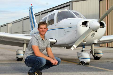 Rebecca Key Graduating senior Landon Key just earned his commercial pilot's license, one day af ...