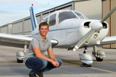 Rebecca Key Graduating senior Landon Key just earned his commercial pilot's license, one day af ...