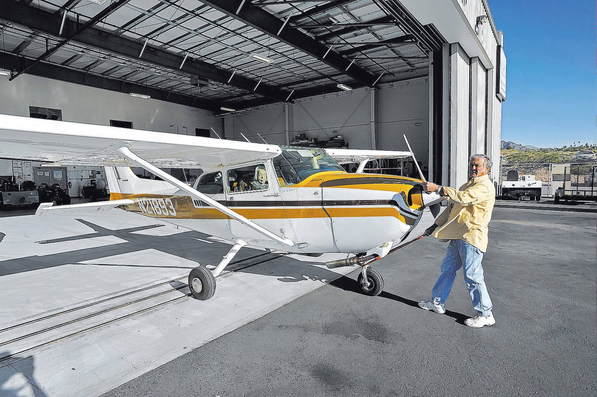 Hangars at Boulder City Municipal Airport will revert to city ownership when leases for the pro ...