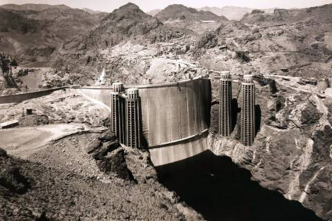 (Boulder City/Hoover Dam Museum) This picture of the northwest side of Hoover Dam was taken May ...